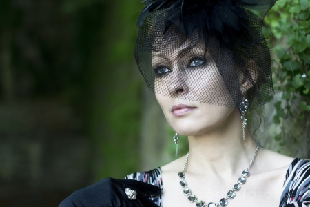 női portré, stílus, elegancia