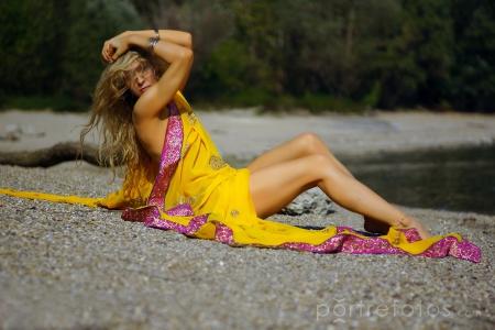 női modell fotó